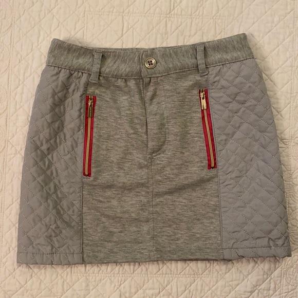 Sean Jean Girls Heather Grey Quilted Skirt